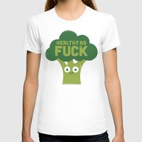 vegetarian T-shirts featuring Raw Truth by David Olenick