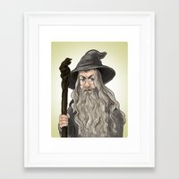 gandalf Framed Art Prints featuring Gandalf by quietsnooze
