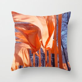 Gates Blowing In The Wind No. 1 Throw Pillow