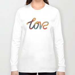 """The Love Series #17 - """"Love"""" (typography) Long Sleeve T-shirt"""