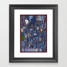 White Elephant in the Blue City Framed Art Print