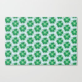Salvia hispanica, green pattern Canvas Print