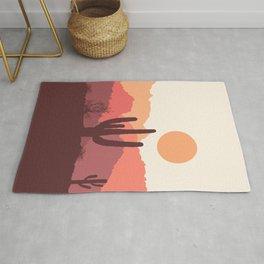 Mexican desert sunrise Rug
