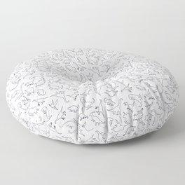Dinosaurs Outline Pattern Floor Pillow