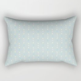 Grey Pastel Geometric Pattern Rectangular Pillow
