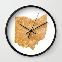 Gold Ohio Wall Clock