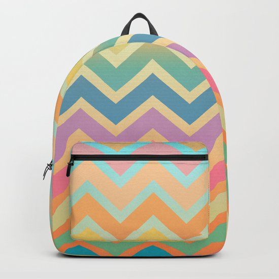 Summer-color Chevron Backpack