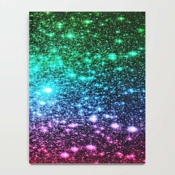 glitter Cool Tone Ombre (green blue purple pink) Notebook