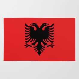 National flag of Albania - Authentic version Rug