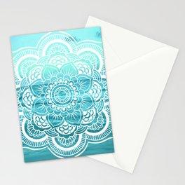Mandala : Aqua Sunset Waters Stationery Cards