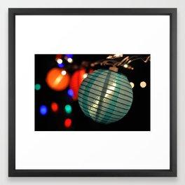 Blue Lantern  Framed Art Print