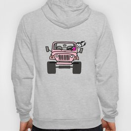 Jeep Wave Pink - Girl Hoody