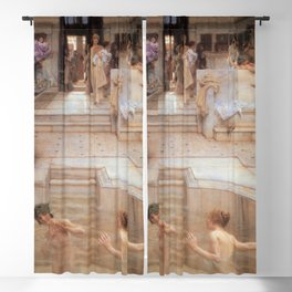 A Favourite Custom 1909 by Sir Lawrence Alma Tadema | Reproduction Blackout Curtain