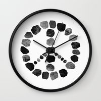 peace Wall Clocks featuring Peace by Elisabeth Fredriksson