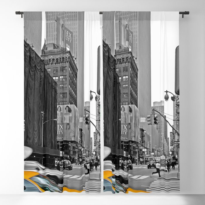 Nyc Yellow Cabs The City Blackout Curtain By Almanachmunich