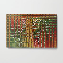 Abstract Art Work Geometic Metal Print