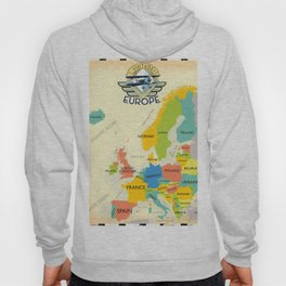Retro Map Of Europe. Hoody