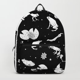 Frog Space Pattern Backpack