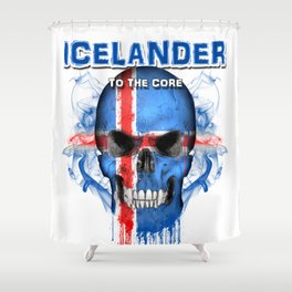 To The Core Collection: Iceland Shower Curtain