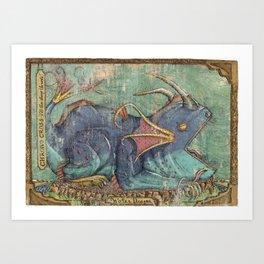Water Dragon - Chrono Cross Art Print
