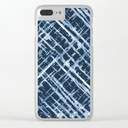 Criss Cross Watercolor Stripes Clear iPhone Case