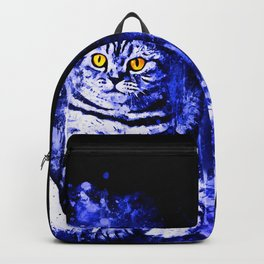 cat sitting like human ws db Backpack