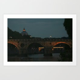 Bridges of Rome in the Evening Art Print