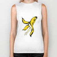 banana Biker Tanks featuring banana by shunsuke art