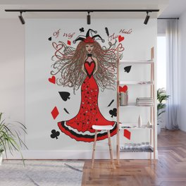 The Queen of Hearts has Lost her Heart Wall Mural