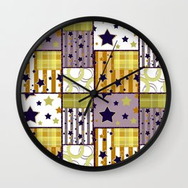 Patchwork Star . Wall Clock