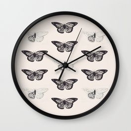 The Butterfly Project Wall Clock