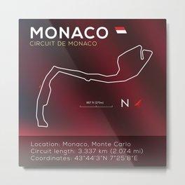 Monaco Racetrack Infographic Metal Print