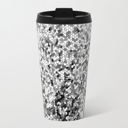 Design 100 black white mosaic Travel Mug