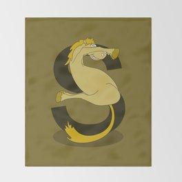 Monogram S Pony Throw Blanket