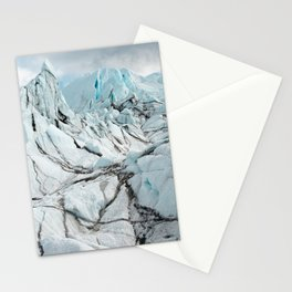 lines in the ice Stationery Cards
