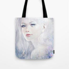 Ethereal - White as ice beatiful girl portrait Tote Bag