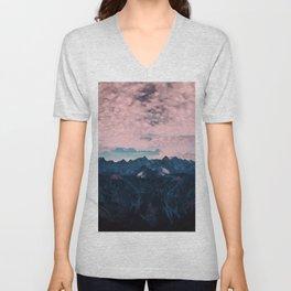 Pastel mountain mood Unisex V-Neck