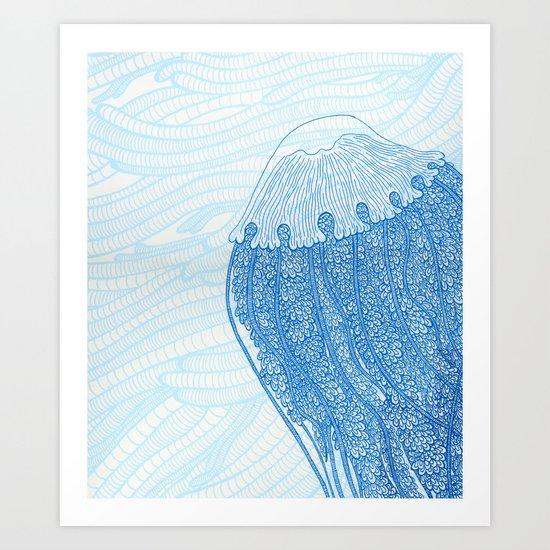 Blue Jelly  Art Print