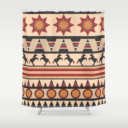 American Indians style repeating pattern Shower Curtain