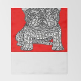 For the Love 1 - French Bulldog Throw Blanket
