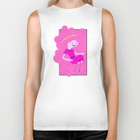 bubblegum Biker Tanks featuring Bubblegum by Tia Hank