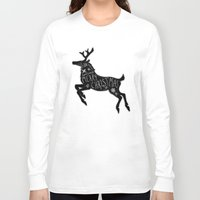 merry christmas Long Sleeve T-shirts featuring Merry Christmas by Wis Marvin