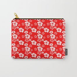Red And White Turtles Hawaiian Pattern Carry-All Pouch