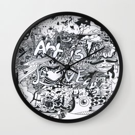 Art is Love Wall Clock