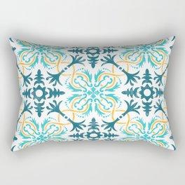 Original tile design inspired on traditional Portuguese 'azulejo' Rectangular Pillow