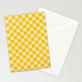 checkerboard 3(dutch white&golden poppy) Stationery Cards