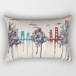 Seattle to San Francisco Rectangular Pillow
