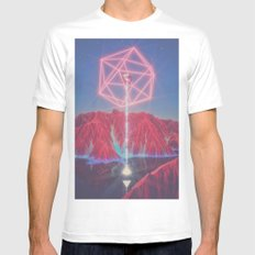 Teleportation White LARGE Mens Fitted Tee