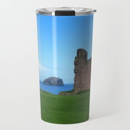 Bass Rock from Tantallon Castle, North Berwick, Scotland Travel Mug