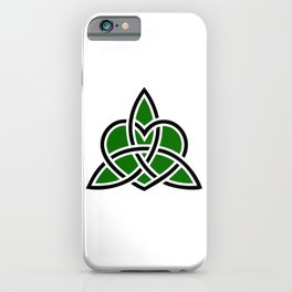 Celtic Valknut Trinity Knot With Interwoven Heart iPhone Case